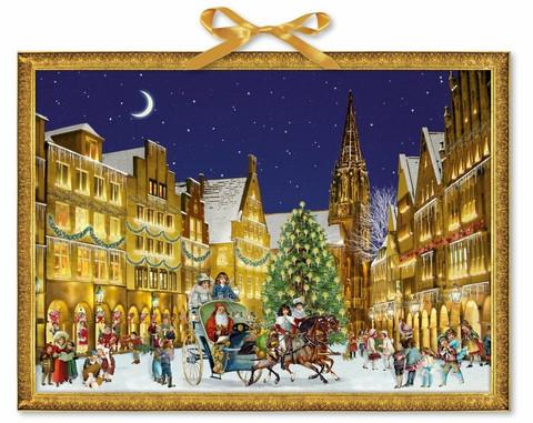 Joulukalenteri, valoisa kylä