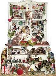 Joulukalenteri, kissojen joulu 41x56 cm