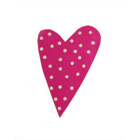Modern Heart -sydäntarra, fuksia valkoisilla pilkuilla