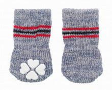 Trixie sukat liukuesteillä, 2 kpl,  m-l, harmaa