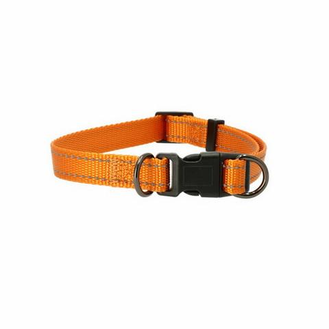 Dogman Iris Kaulapanta säädettävä 10mmx22-35cm, oranssi heijastinnauhalla