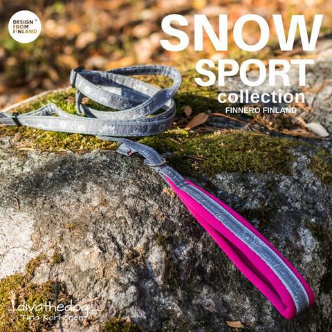 FinNero Snow Sport talutin 2x110-185 cm, roosa