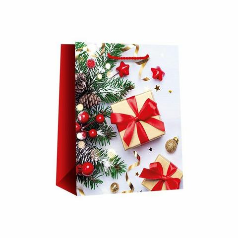 Lahjakassi, 330 x 100 x 455 mm, Jolly Christmas