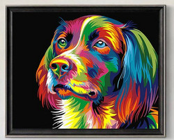 Väritettävä canvaskuva 40x50 cm, koira