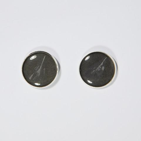 My little chicken earrings, black