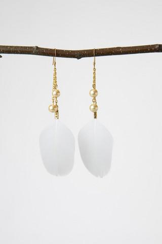 Golden Chicken earrings