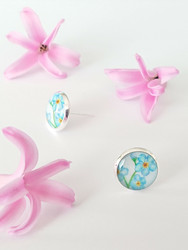 Forget me not -stud earrings