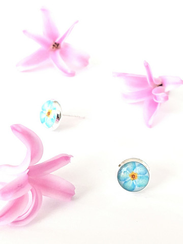 Forget me not -stud earrings, small