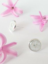 Apple blossom -stud earrings