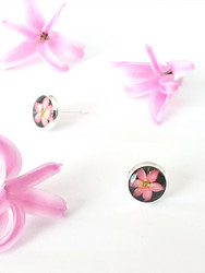 Clematis -stud earrings, small