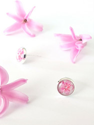 Cherry blossom -stud earrings, small