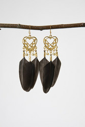 Golden Chicken earrings