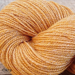 Wilhelmi wool sock yarn, dyed