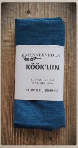 Keittiöpyyhe Pellava, sininen