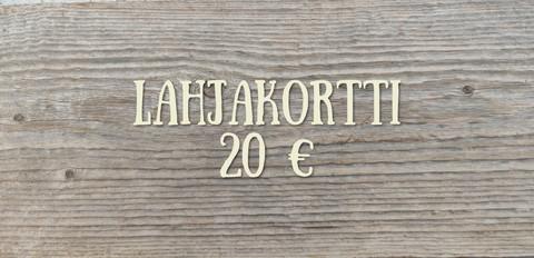 20 € Lahjakortti