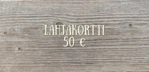 50 € Lahjakortti