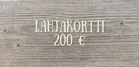 200 € Lahjakortti