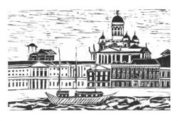 Helsinki-taidepostikortti