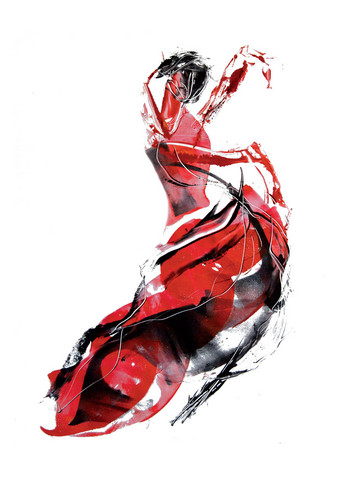 Flamenca-taidejuliste A4