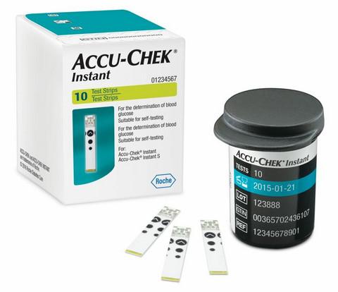 Accu-Chek Instant - verensokerimittarin testiliuska 10kpl/pkt