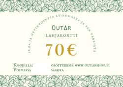 Lahjakortti 70€