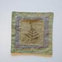 Lasinaluset 4kpl, vihreä kasvivärjätty