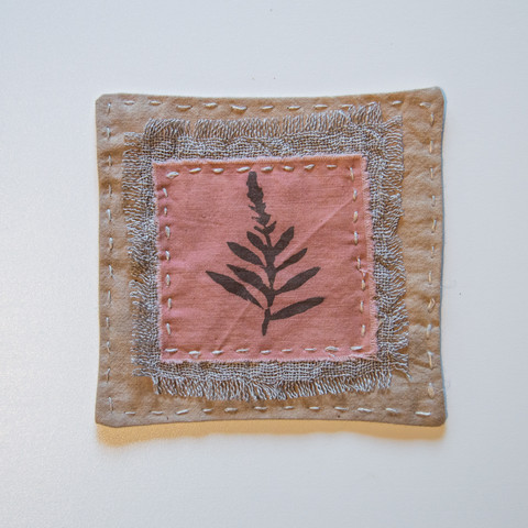 Lasinaluset 4 kpl, vanha roosa kasvivärjätty