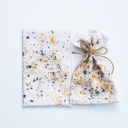 Kasvivärjätty pieni säilytyspussi confetti