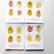Kasvipigmentti postikortit 3 kpl setti
