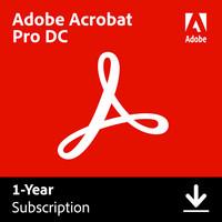 Adobe Acrobat Pro DC - Windows/Mac - 12 kk -PDF-muokkausohjelma, englanninkielinen, ESD - sähköinen lisenssi