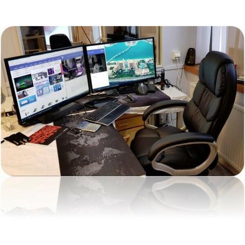 CMD Executive toimistotuoli – musta / hopea