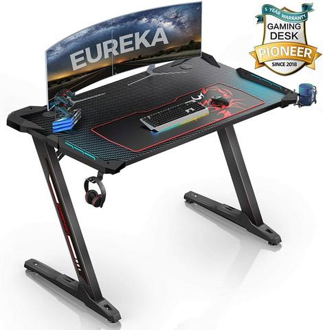 Eureka Ergonomic pelipöytä RGB valaistuksella