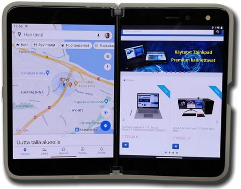 Surface Duo taittuvanäyttöinen älypuhelin/tabletti 2x5.6