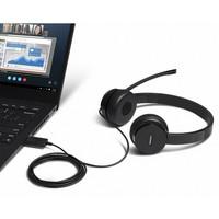 Lenovo 100 Stereo USB -Kuulokemikrofoni, Musta