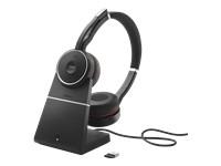 Jabra evolve 75 Bluetooth stereo headset + latausteline