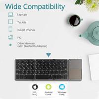 CMD Mini Bluetooth taittuva näppäimistö + touchpad, Bluetooth UK-layout