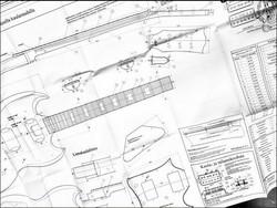 Soitinpiirustukset Stratocaster-tyyppinen kitara