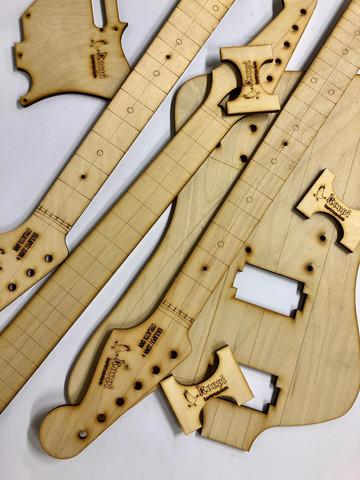 Stratocaster-tyylisen sähkökitaran sabluunasarja