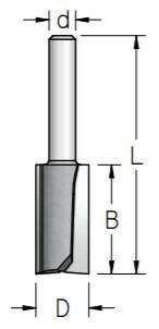 Kaularaudan jyrsintäterä 9,5mm