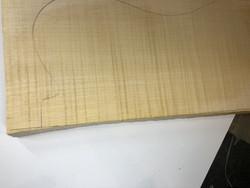 Loimuvaahterakaula-aihio kitaralle 25mm ja 30mm