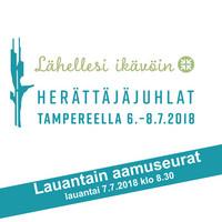 Tampereen herättäjäjuhlat 2018 - lauantain aamuseurat