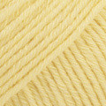 Cotton Merino vaniljankeltainen uni colour 17