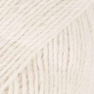 Alpaca luonnonvalkoinen uni colour 100