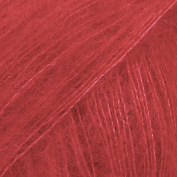 Kid-Silk punainen uni colour 14