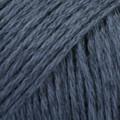 Bomull-Lin tummansininen uni colour 21