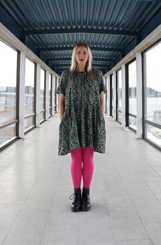 FLOSSY- DRESS, TURQUOISE LEO