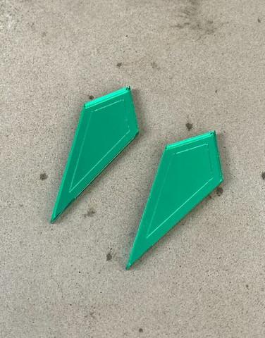 ARROW - earrings, green