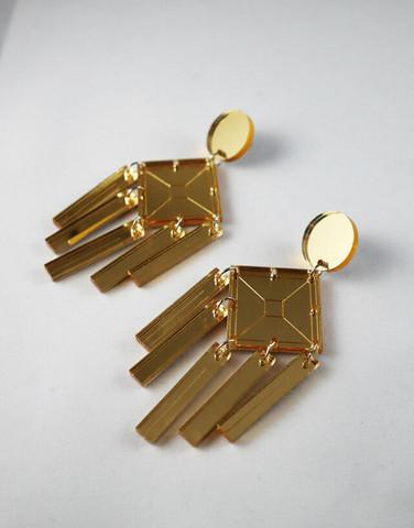 DANGLE - EARRING, GOLD
