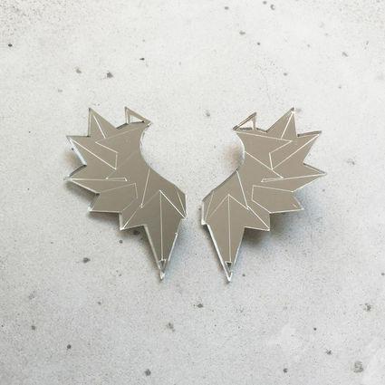 Wings - earring, silver