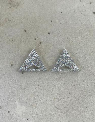 Triangle - Earrings, glitter
